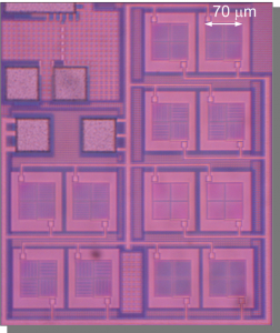Integrated photovoltaic cells in a 90nm CMOS process.