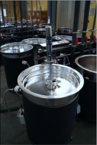 Integrated Fermentation Control Sysem (IFCS). Initial development by Cypress Semiconductor. New sensors developed as part of this research will be integrated with pumpover plumbing.