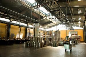 Robert Mondavi Institute winery interior.